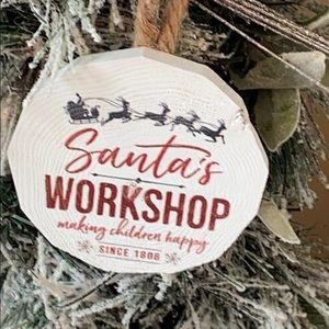 Modern Farmhouse Rustic Christmas Tree Ornament